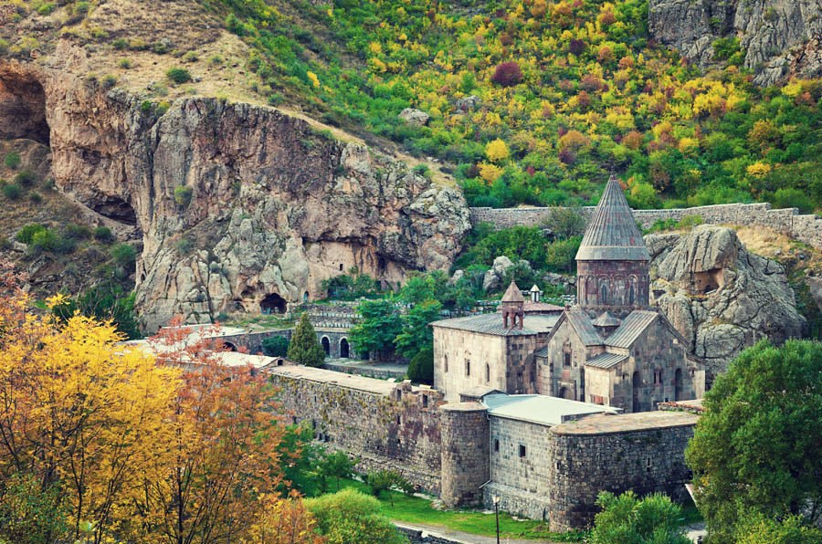 Armenia One Day Tour: Garny Pagan Temple, Geghard cave-curved Monastery, Stone Symphony Natural Wonder in an Impressive Canyon