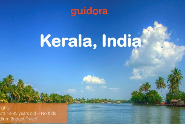 Travel itinerary to Kerala