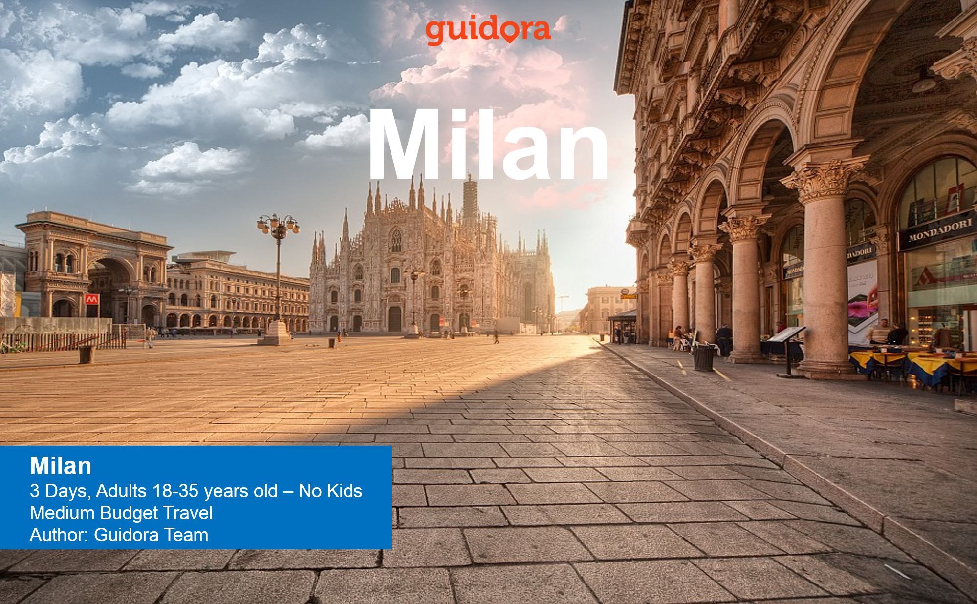 3 days travel itinerary to Milan