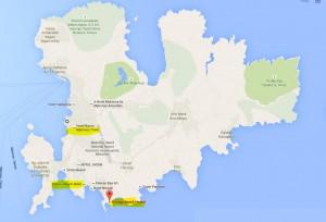 mykonos map of beaches