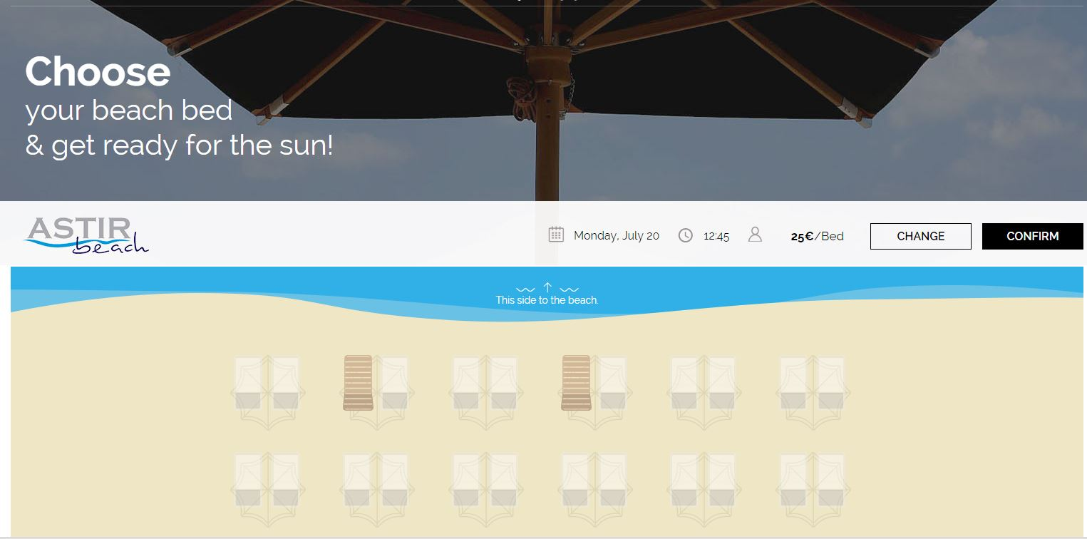 Sun Bed Reservations Astir Beach