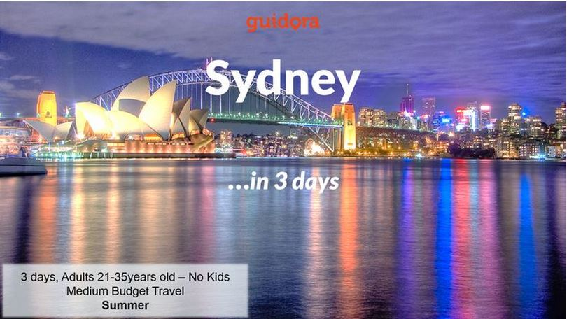 Sydney: 3 Days Travel Itinerary & Guide [PDF]