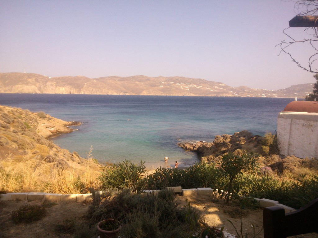 View from Kiki's Restaurant in Myconos