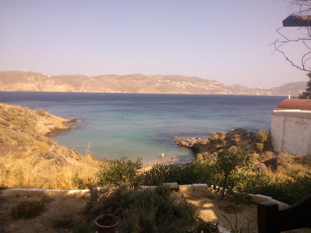 View from Kiki's Restaurant in Myconos