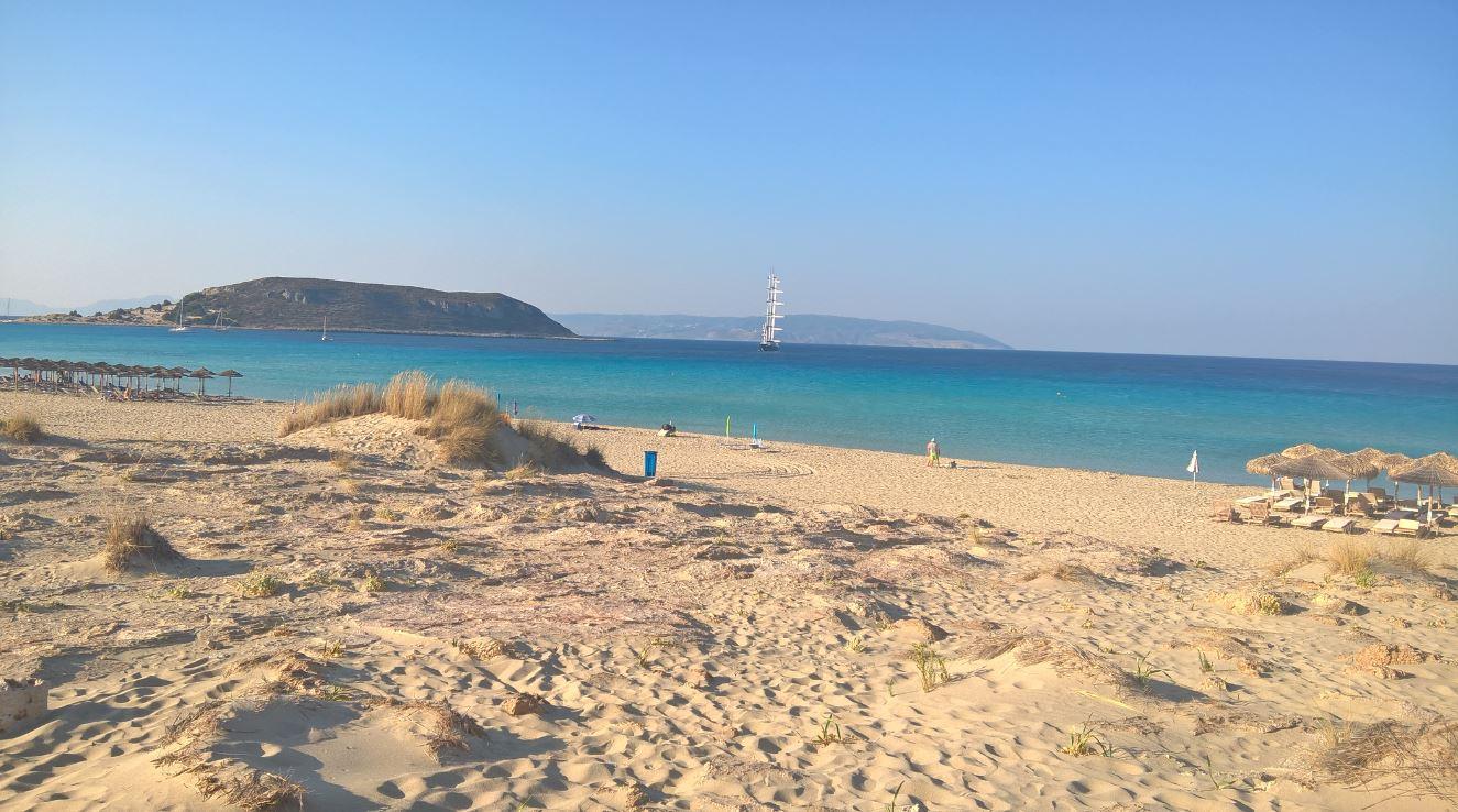 Megalos Simos Beach - The left side