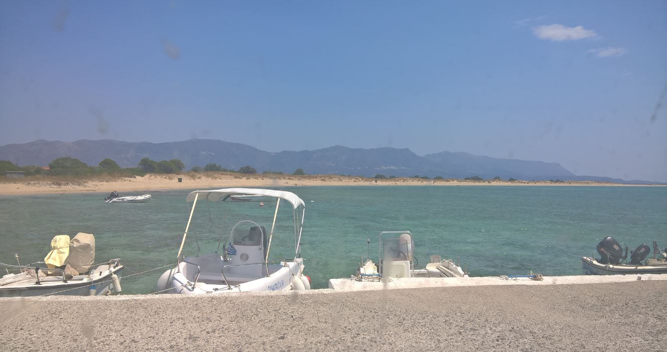 The beach at Pounda, across of Elafonisos island