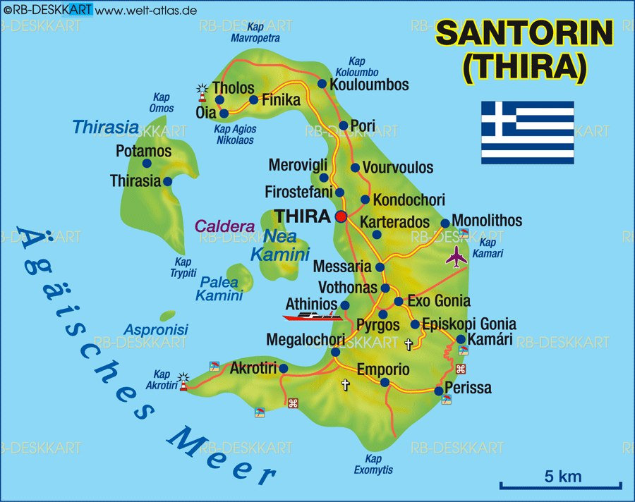map of santorini photo
