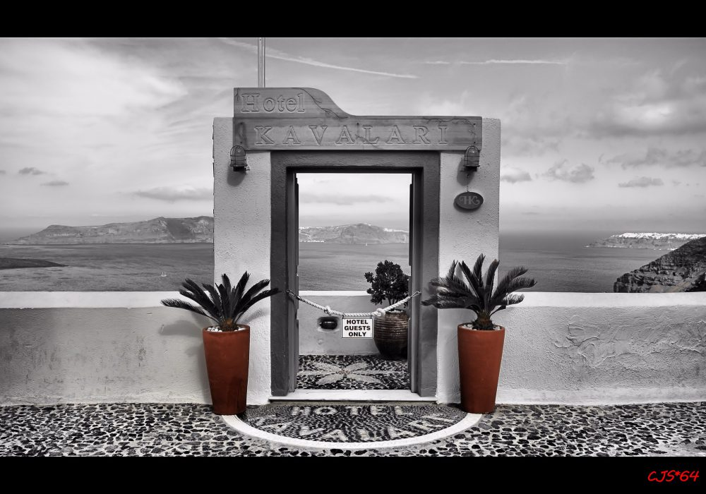 A Door to Heaven in Santorini