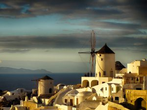 A Windmill in Santorini