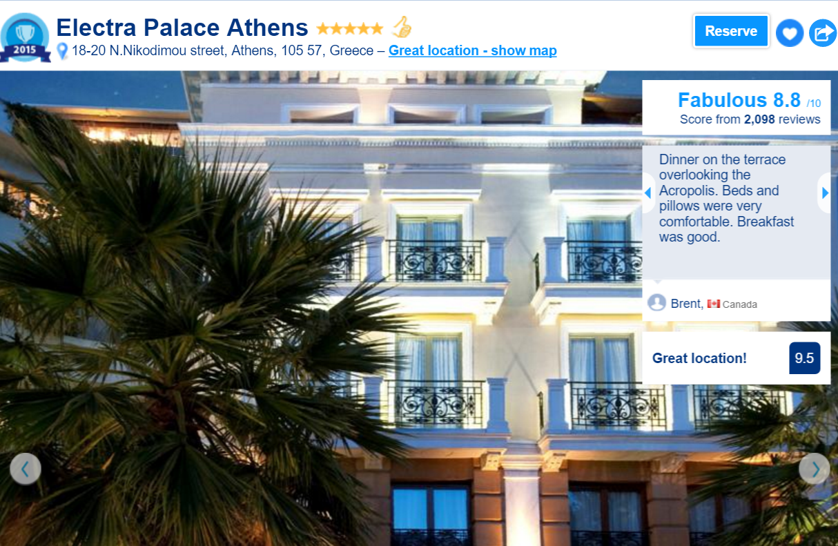 The Best luxury hotels in Athens: Electra Palace