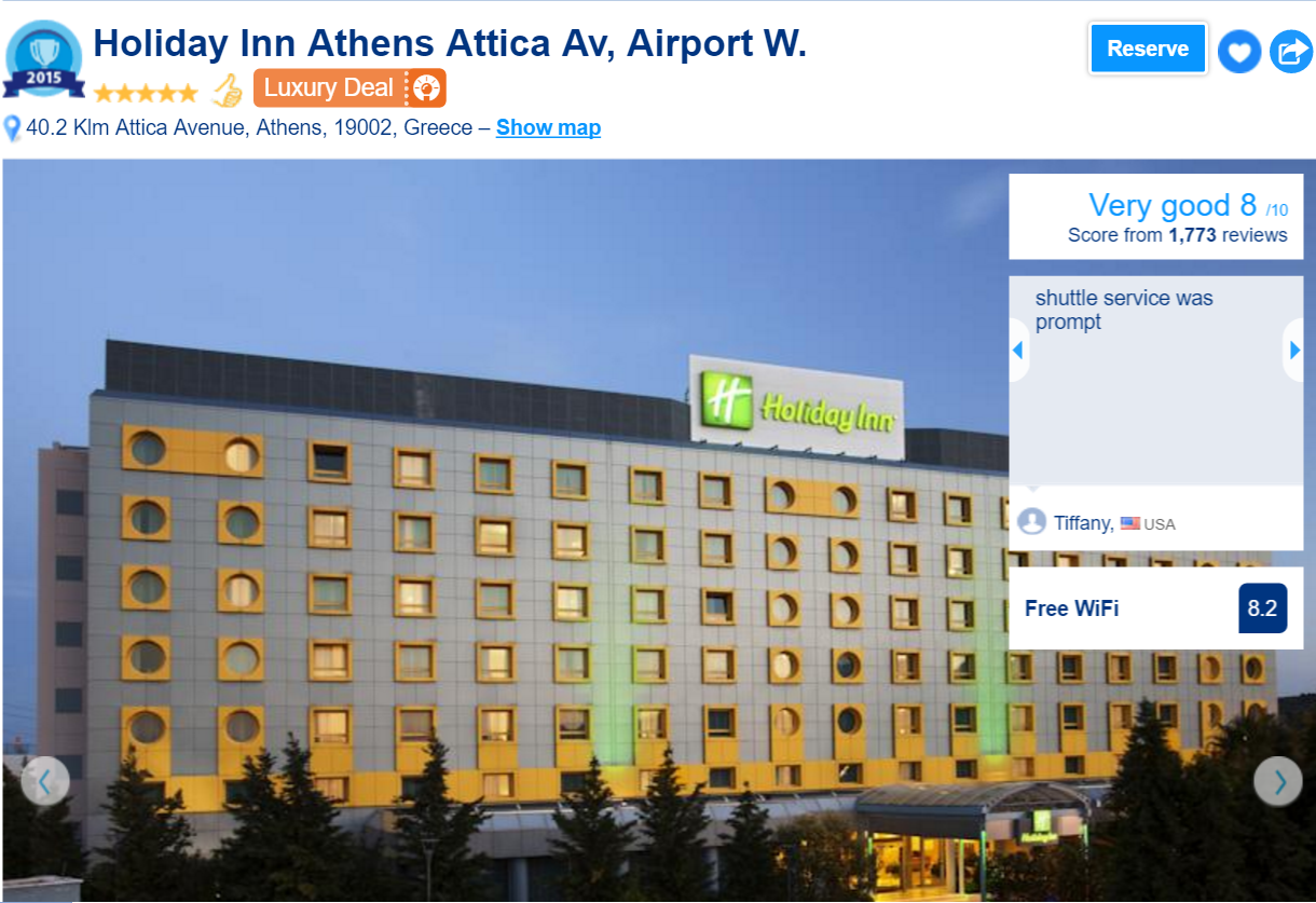 The best luxury hotels in athens: holiday inn athens