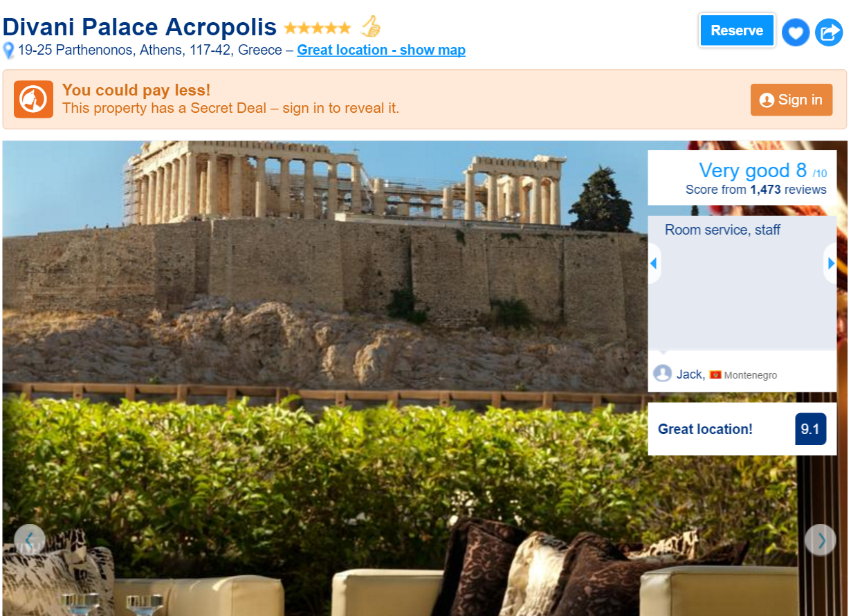 The Best Luxury Hotels in Athens: Divani Palace Acropolis