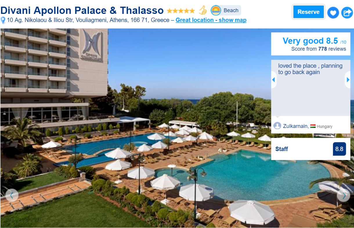 the best luxury hotels in athens: Divani apollon palace
