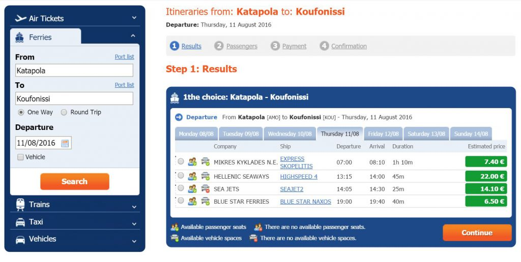 How to Get to Koufonisia from Amorgos