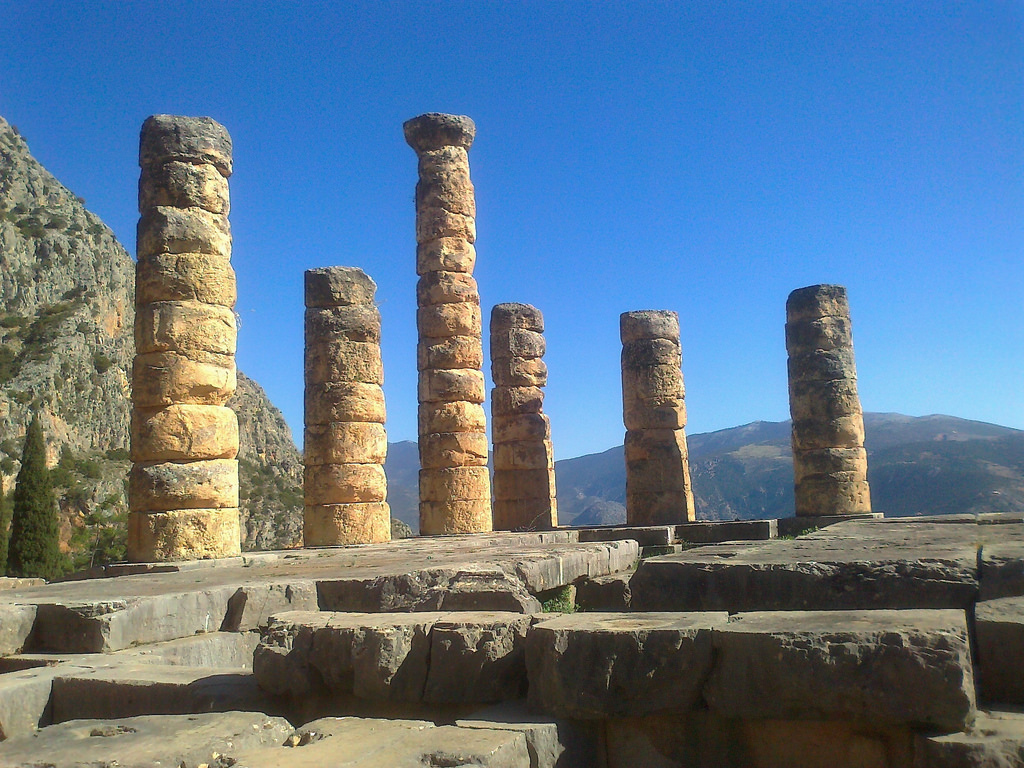 temple of apollo delphi photo