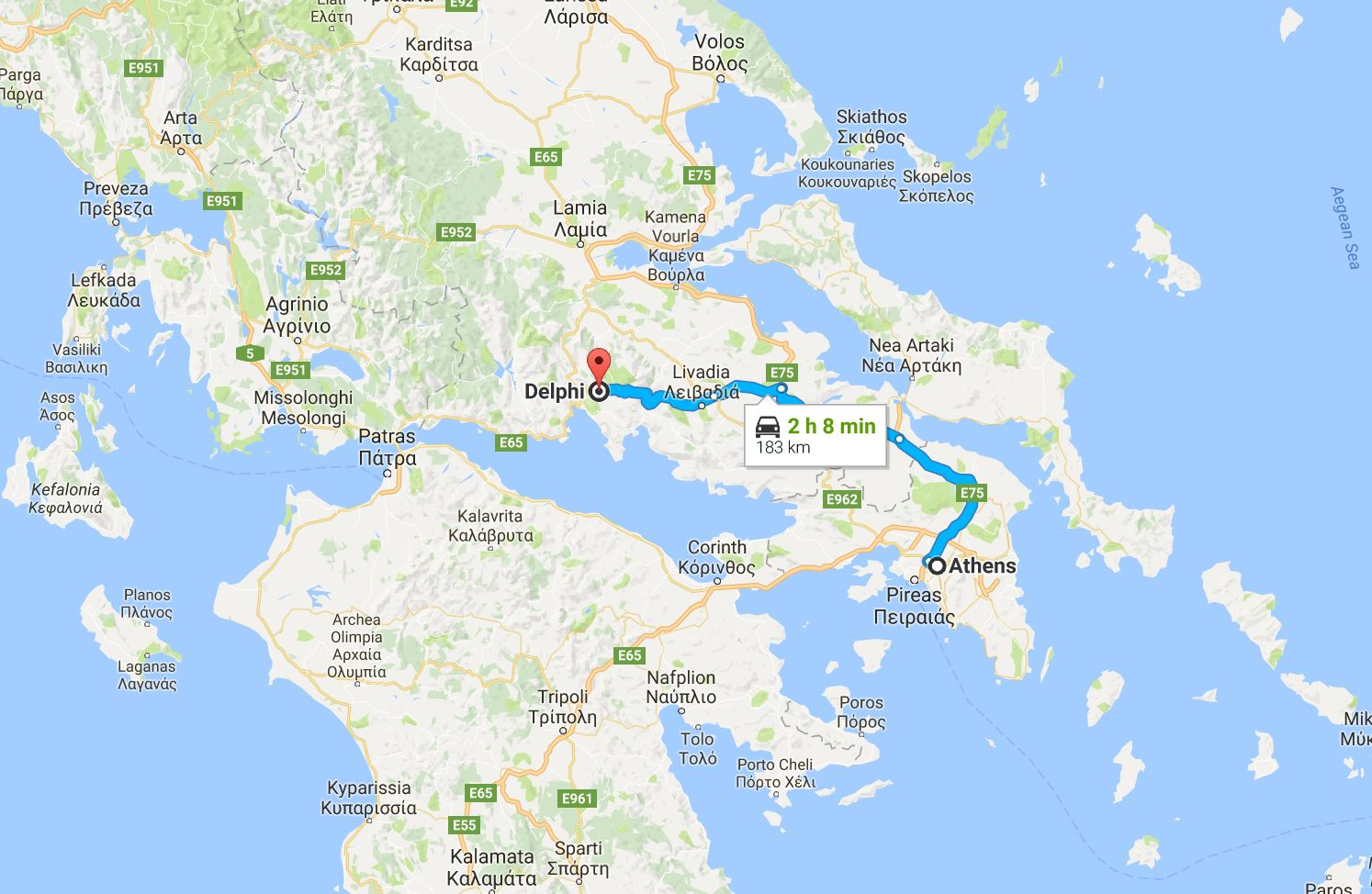 Day Trip from Athens To Delphi - Distance