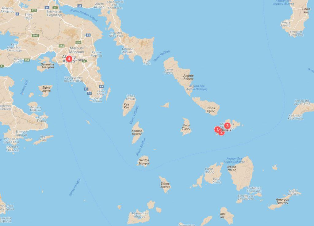 Rhenia Island Mykonos Greece