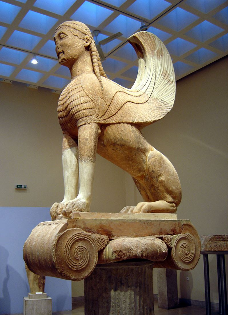 The Naxian Sphinx in Delphi Archaeological Museum