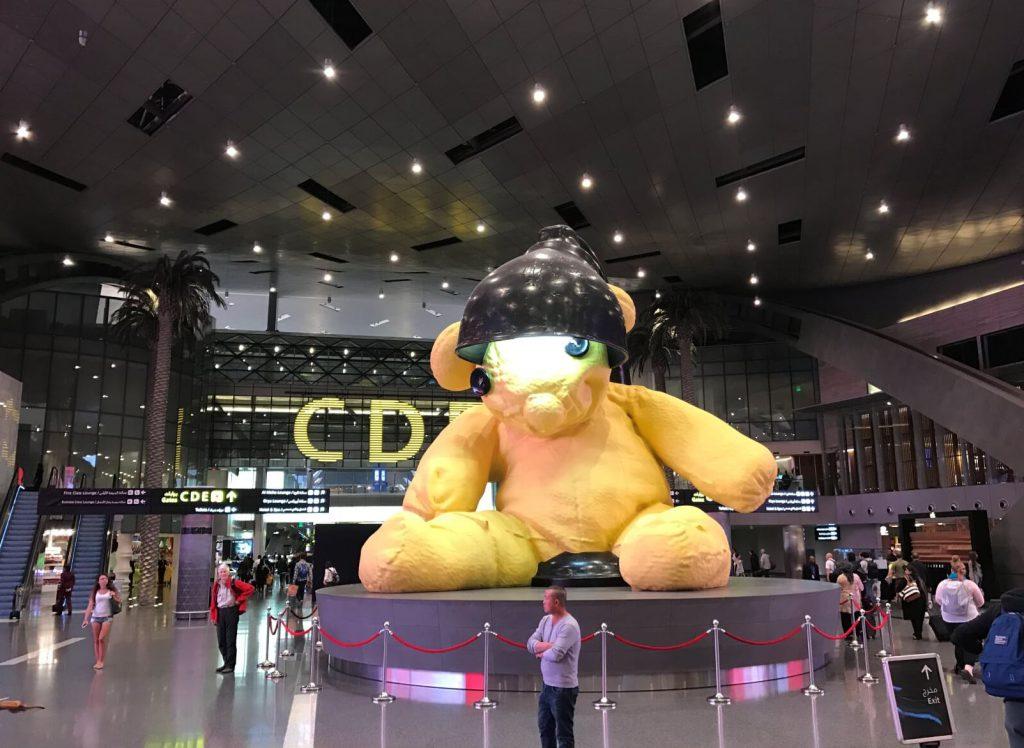 Inside the Qatar Airport