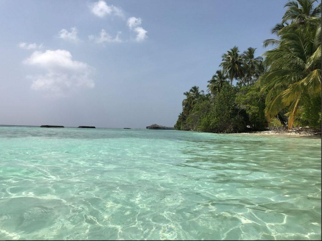 Swimming in the Snorkeling Side of Kuramathi