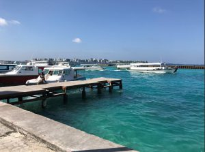 The Deck from Where the Speedboats are leaving Male Airport towards the Resort Islands