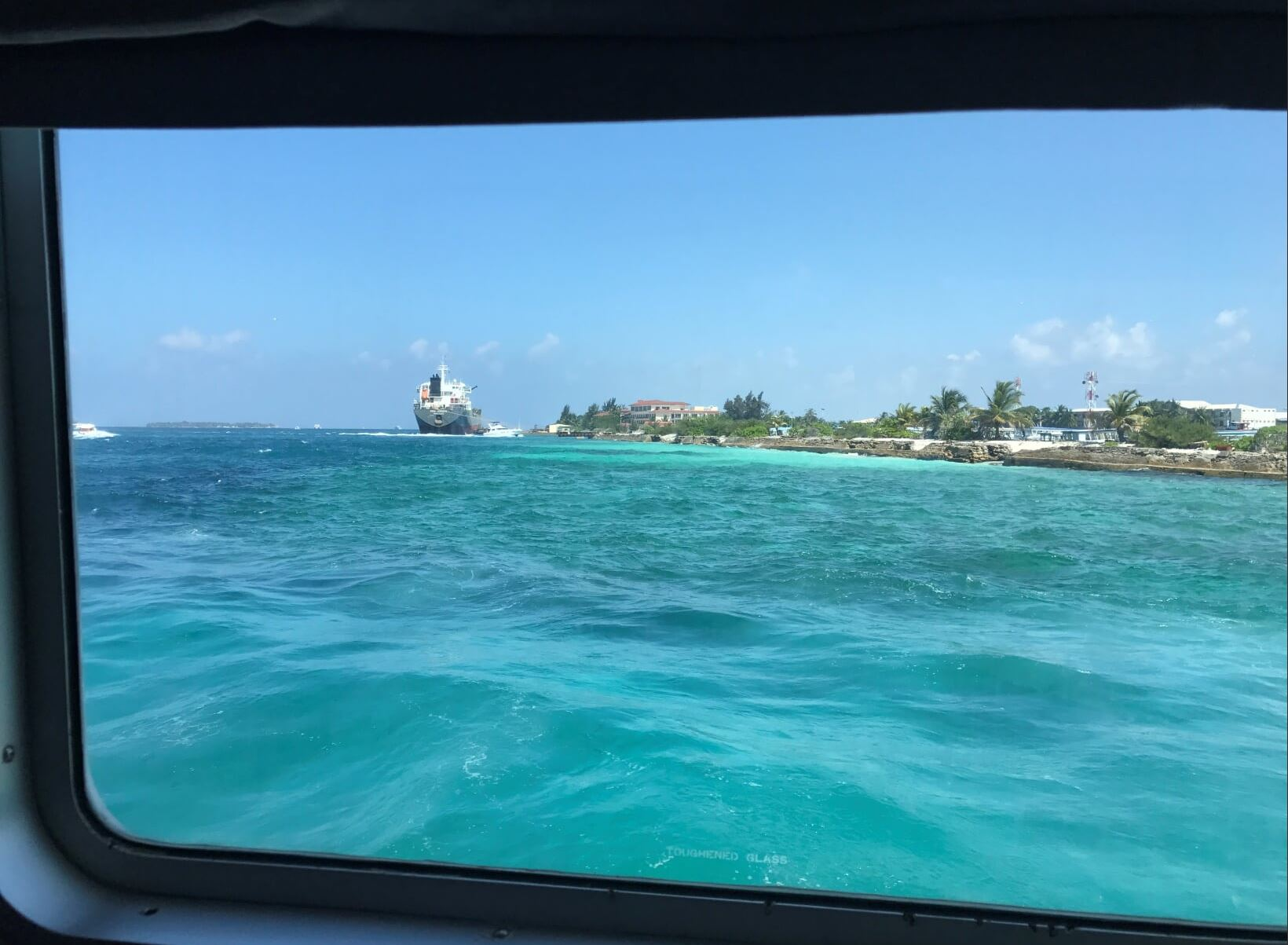The View from Speedboat to the Indian Ocean While going to Kuramathi Island Resort