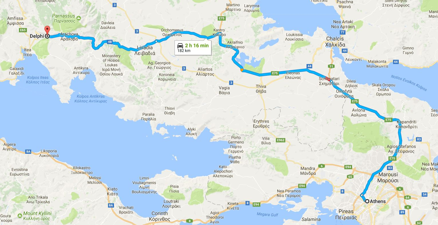 How to Get to Delphi from Athens