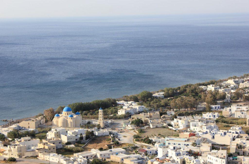 Perissa Village in Santorini