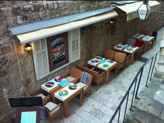 Konoba Ribar Restaurant in the City Walls
