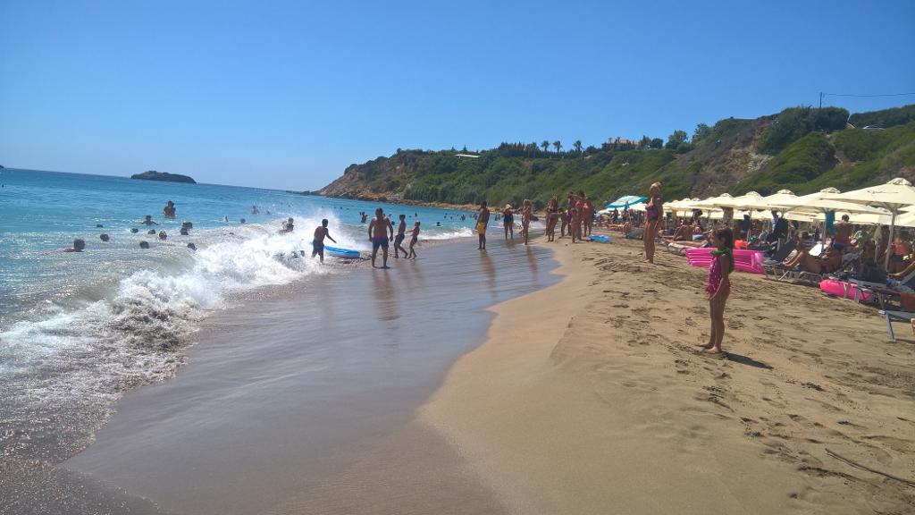 Ai Helis Beach - Kids playing on the water
