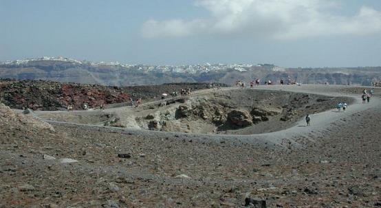 Nea Kameni - Volcano in Santorini
