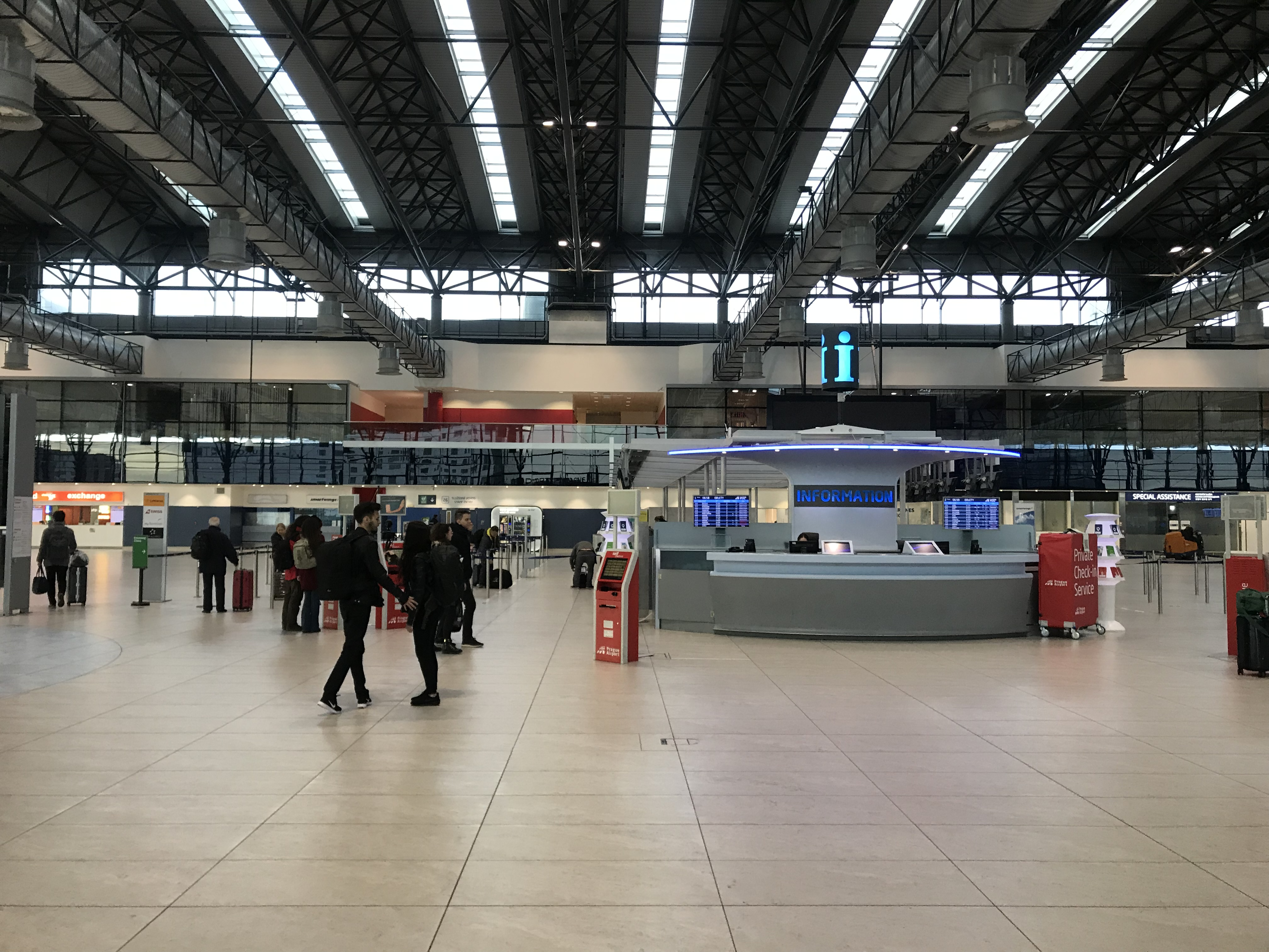 Prague Tips - For any information you need about the airport of Prague, you will find a kiosk in the main hall area of the airport.