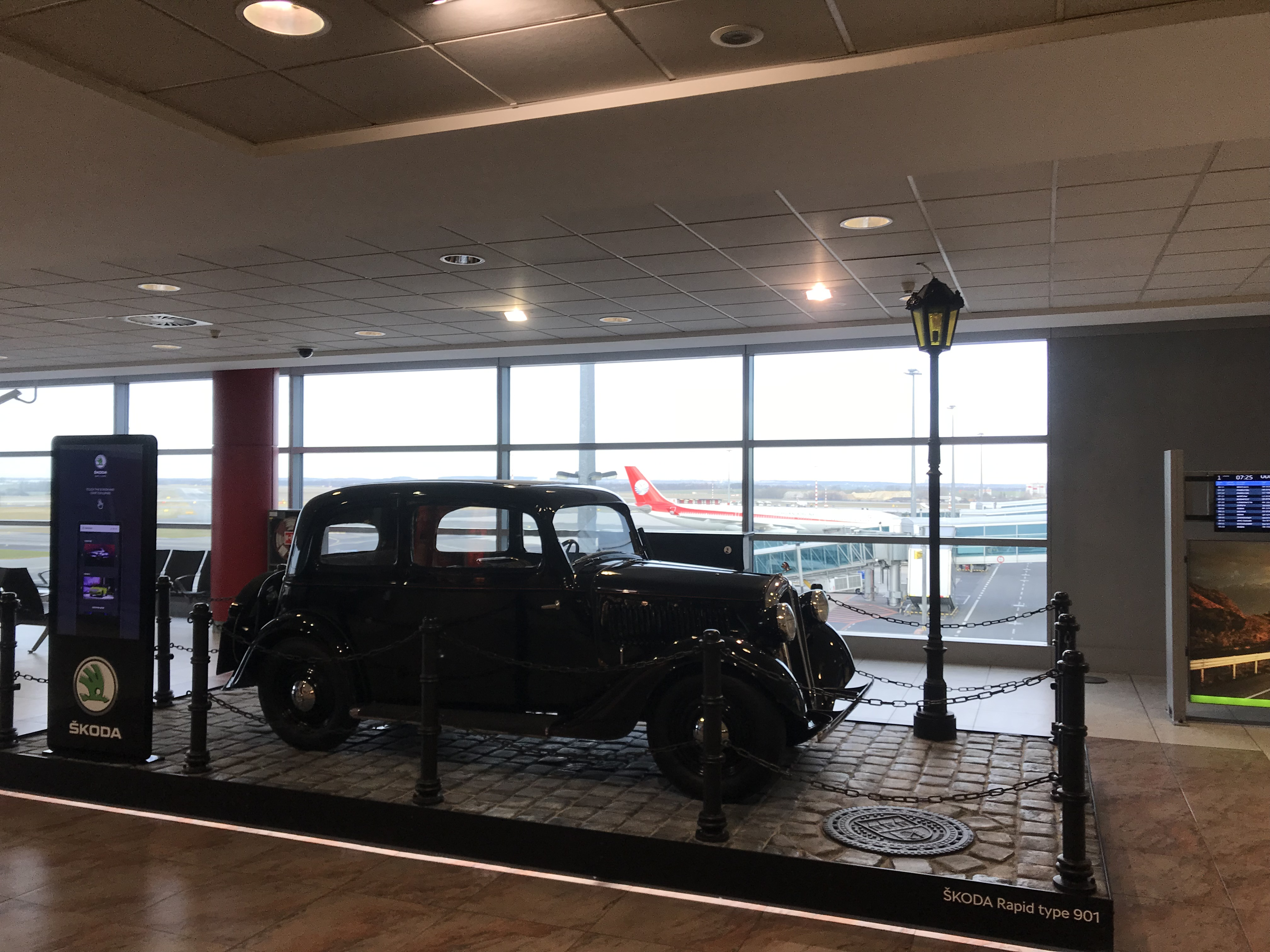 An old beetle at the airport of Prague