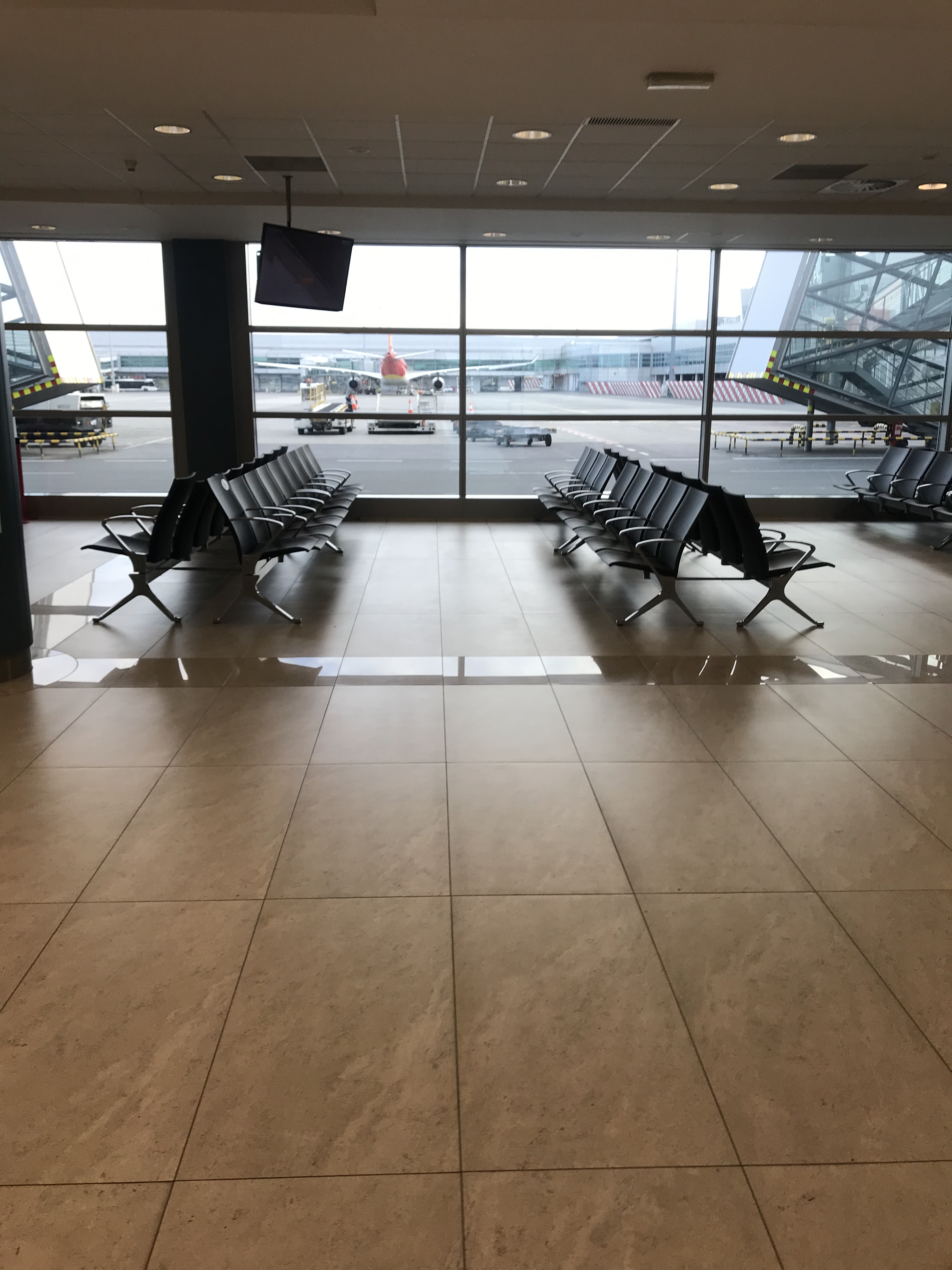 Prague Tips - The waiting area at the gates of the Prague Airport