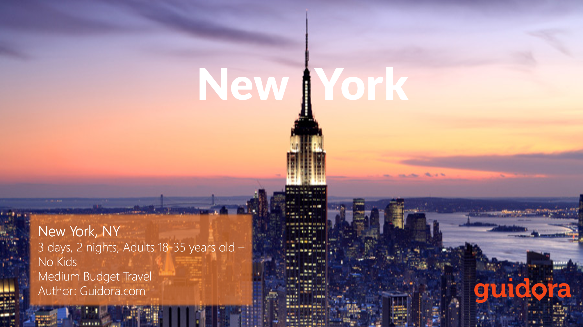 New york city 3 days travel itinerary guidora for Tablet hotels nyc