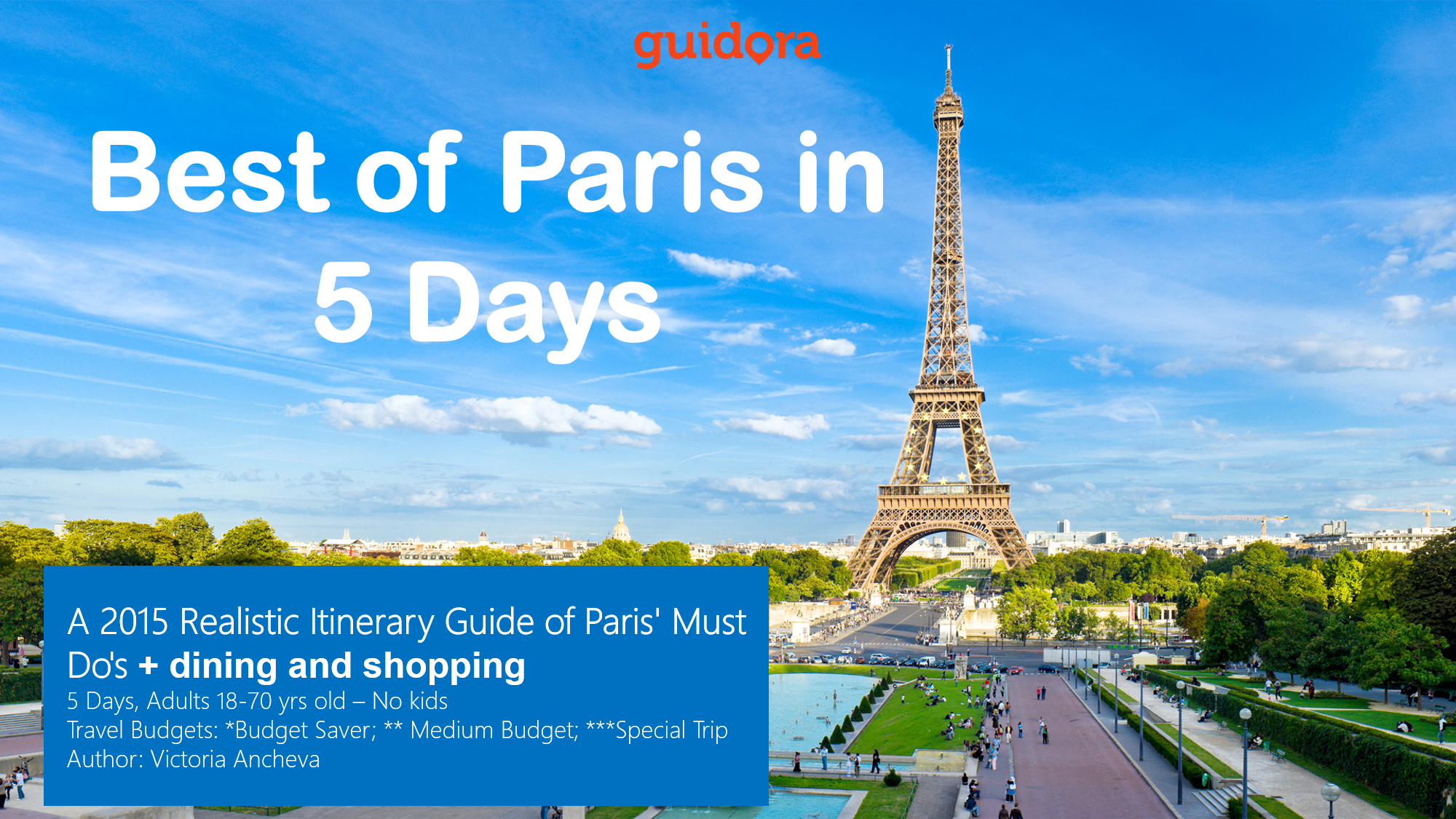 Paris 5 Days Travel Itinerary