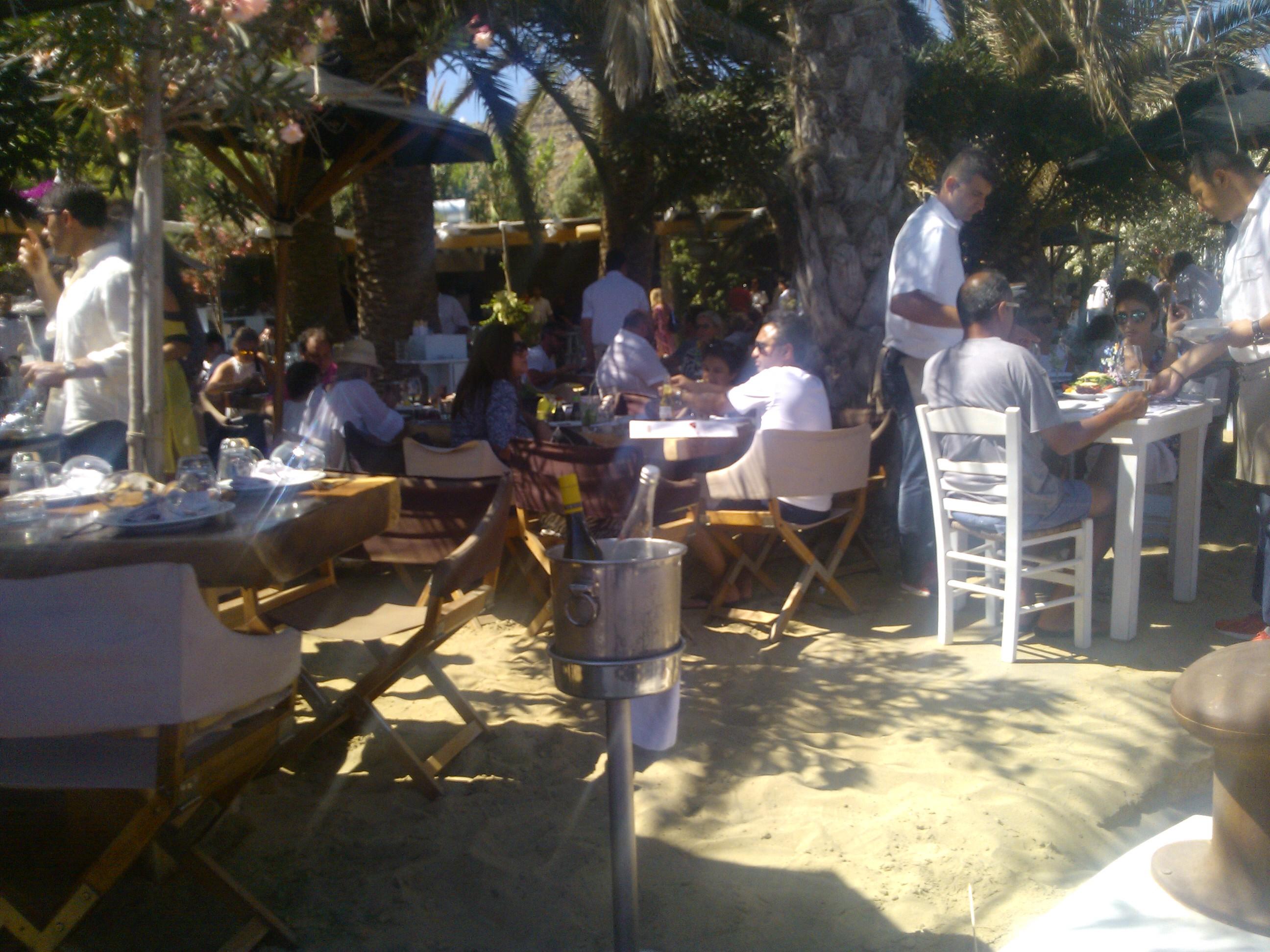 Psarou Beach - Nammos Restaurant