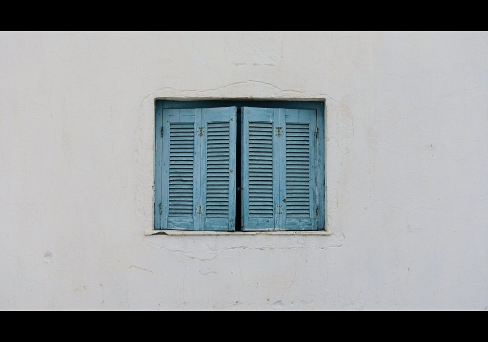 Blue Window in Santorini