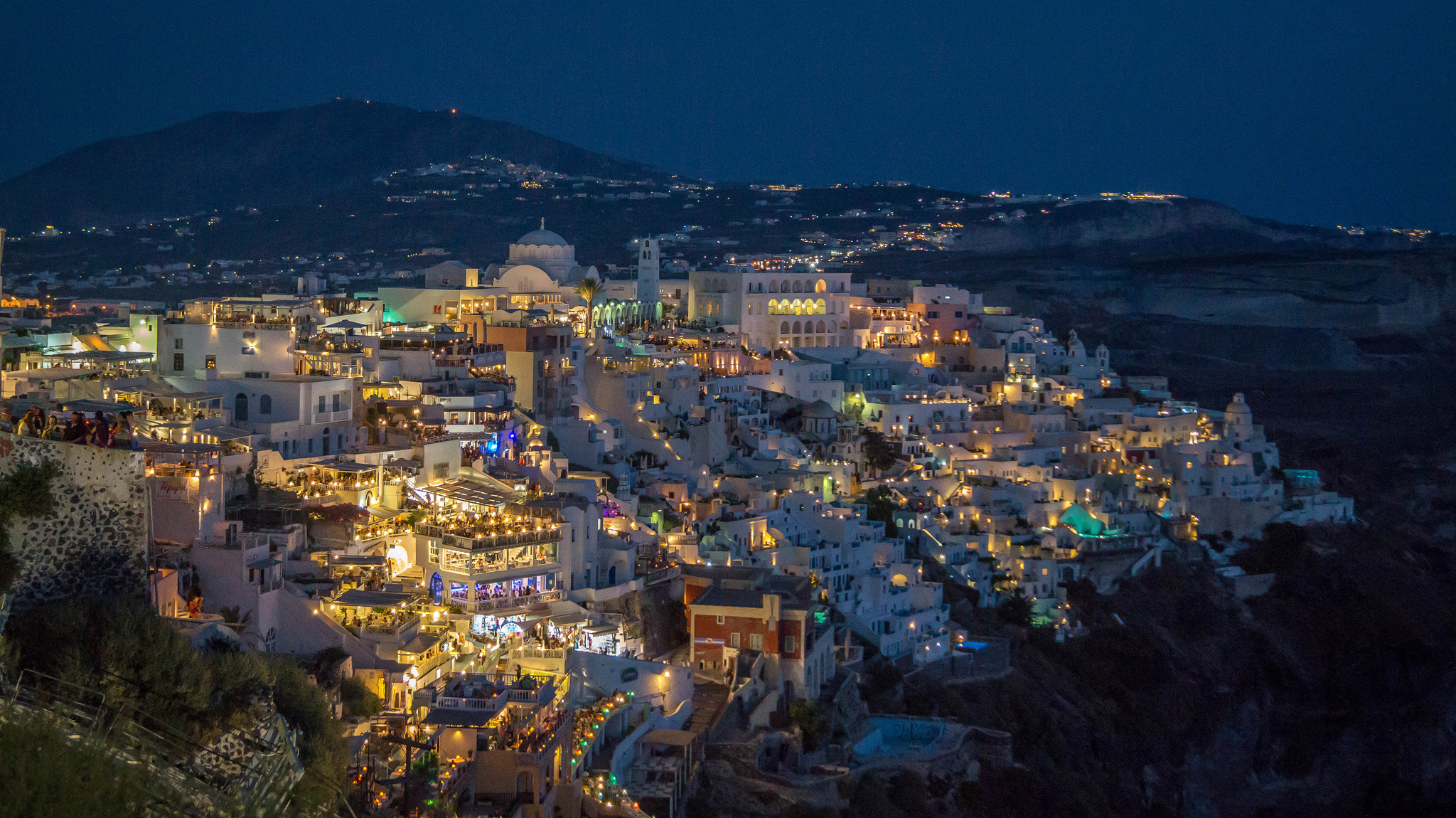 Panoramic View of Fira