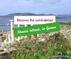 Rhenia Island in Greece