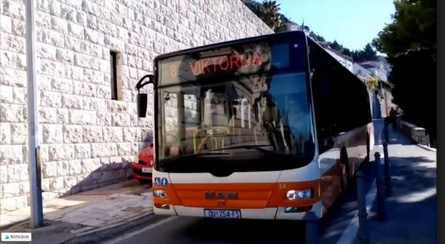 Dubrovnik - Bus from Airport to the City Center