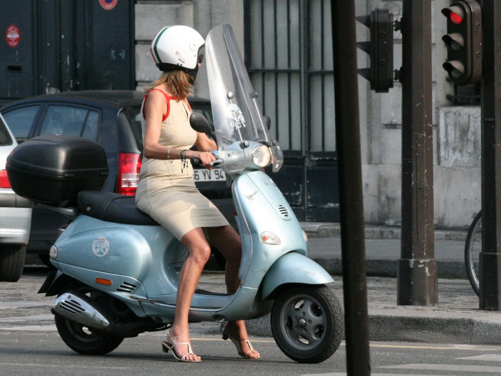 Discover Paris on a scooter
