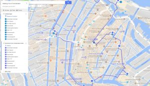 Walking Tour of Amsterdam with Google Maps Instructions